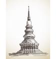 thai stupa Chedi vector image