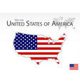 united states of america map and flag vector image
