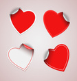 Valentine red heart stickers vector image vector image