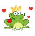 Valentines frog cartoon vector image vector image