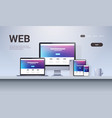 web technology network concept laptop smartphone vector image vector image