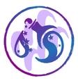 zodiac sign Aquarius watercolor vector image vector image