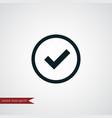 tick icon simple vector image