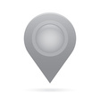 gray silver map pointer icon marker GPS location vector image