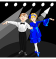 tiny dancers on the stage vector image