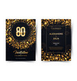 80th years birthday black paper luxury
