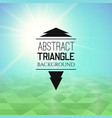 abstract blue sunset with green triangle field vector image vector image