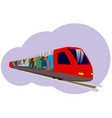 an abstract train vector image vector image