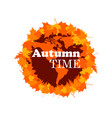 autumn time planet with fall leaves autumn season vector image