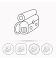 Backpack icon Travel equipment sign vector image vector image