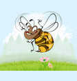 bee on background of nature vector image
