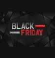 black friday sale monochrome and red color vector image vector image