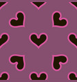 black hearts seamless background pattern vector image vector image