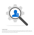 block user icon search glass with gear symbol vector image