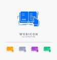 book lesson study literature reading 5 color vector image