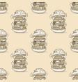 burger huge seamless pattern vector image