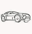 car simple modern automobile vector image vector image