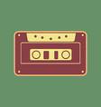 cassette icon audio tape sign cordovan vector image