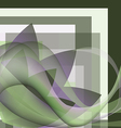 Colorful abstract flower with waves vector image vector image