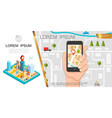 colorful gps composition vector image