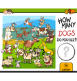 counting game with spotted dogs vector image vector image