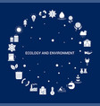 creative ecology and enviroment icon background vector image