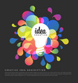 creative idea template vector image