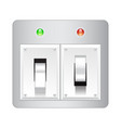Electric switch web icon isolated on white
