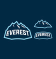 everest mascot logo design vector image