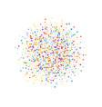 festive confetti celebration stars rainbow confe vector image vector image