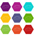 filter for camera icons set 9 vector image vector image