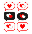 flat love messages set vector image