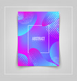 fluid shapes composition colorful geometric vector image vector image