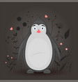 gift postcard with cartoon animal penguin vector image