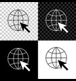go to web icon isolated on black white and vector image vector image