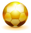 golden soccer ball symbol of victory championship vector image vector image