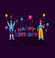 happy birthday people flat design vector image