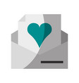heart cartoon love icon image vector image vector image