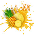 ice cream pineapple ball fruit dessert choose your vector image vector image