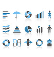 infographic element icons set vector image vector image