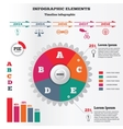 Infographics elements set Pie chart and timeline vector image
