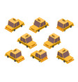 isometric taxi car set vector image vector image