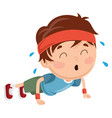 kid pushing up vector image