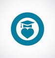 love education icon bold blue circle border vector image vector image
