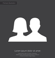 male female premium icon white on dark background vector image