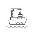 maritime logistics line icon concept maritime vector image