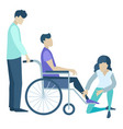 medical support and assistant for disabled vector image