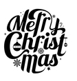 Merry Christmas lettering text white background vector image