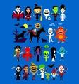 monsters mash halloween characters vector image