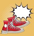 old sneakers pop art
